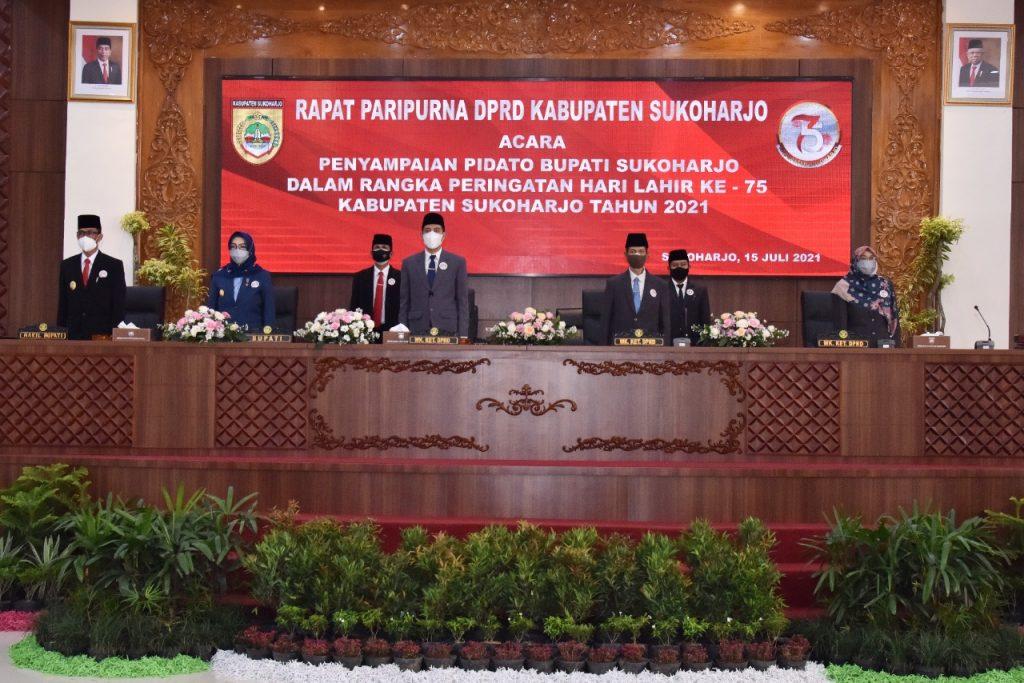 DPRD Gelar Rapat Paripurna Hari Lahir Sukoharjo Ke-75