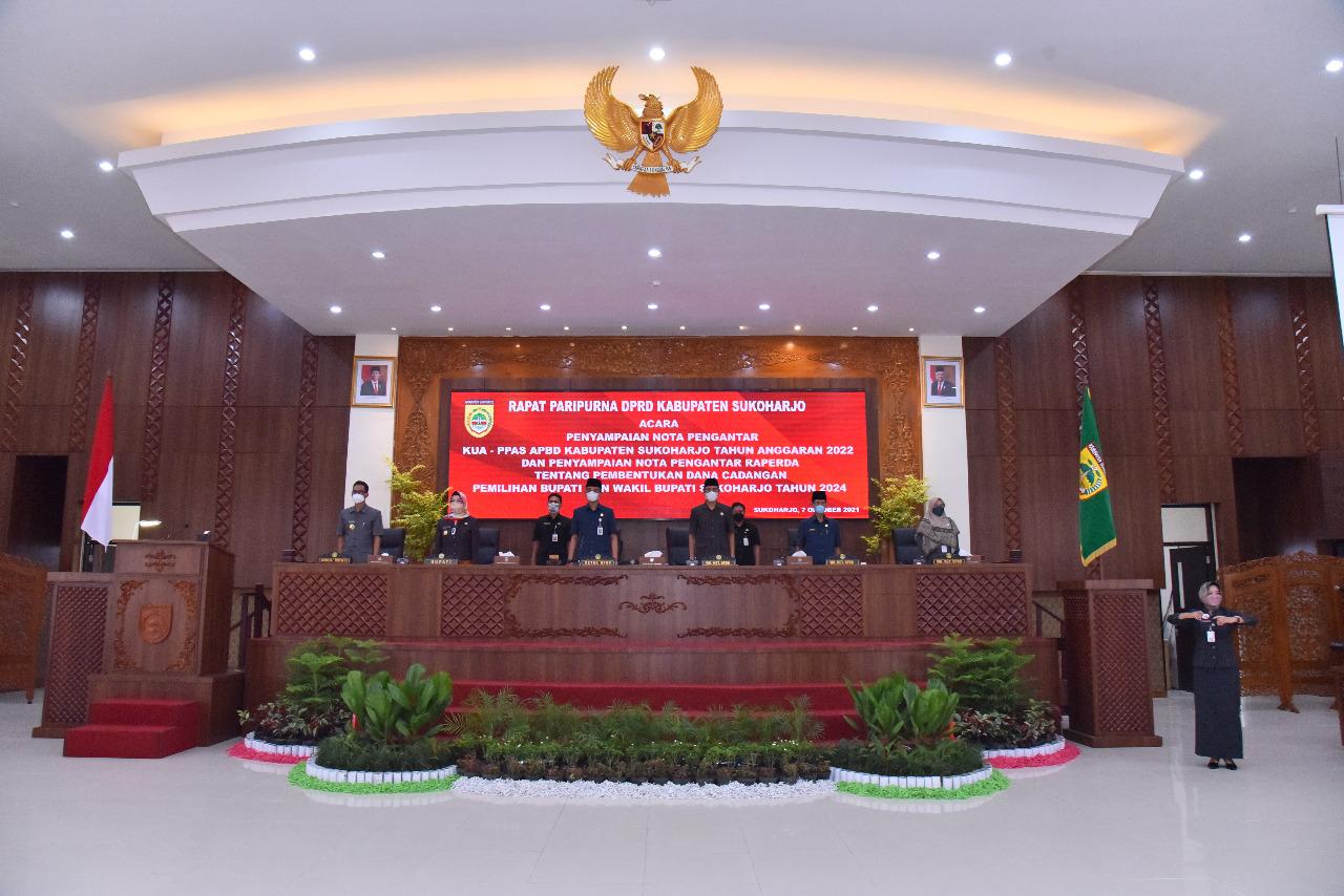 DPRD Gelar Rapat Paripuna Penyampaian Nota KUA-PPAS tahun 2022 dan Dana Cadangan Pilbup 2024