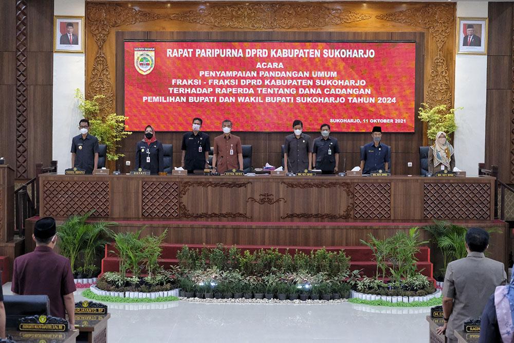 DPRD Gelar Rapat Paripurna Pandangan Umum Fraksi terhadap Raperda Dana Cadangan Pilbup 2024